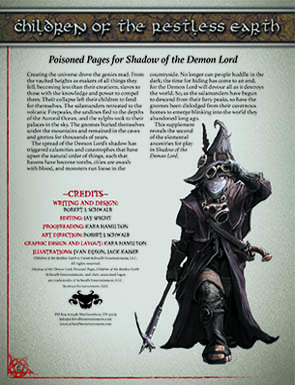 Children of the Restless Earth: Poisoned Pages for Shadow of the Demon Lord