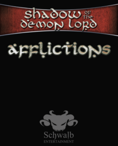 Shadow of the Demon Lord Role Playing Game Affliction Cards