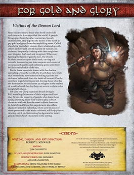 For Gold and Glory: Victims of the Demon Lord