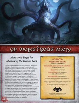Of Monstrous Mien: Monstrous Pages