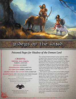 Riders of the Wind: Poisoned Pages for Shadow of the Demon Lord RPG
