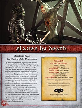 Slaves in Death: Monstrous Pages