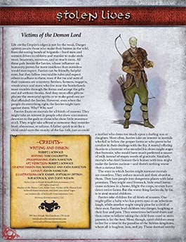 Stolen Lives: Victims of the Demon Lord
