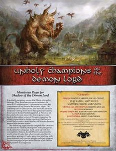 Unholy Champions: Monstrous Pages