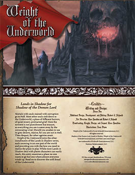 Weight of the Underworld: Lands in Shadow