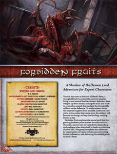 Forbidden Fruits: Expert Adventure for Shadow of the Demon Lord