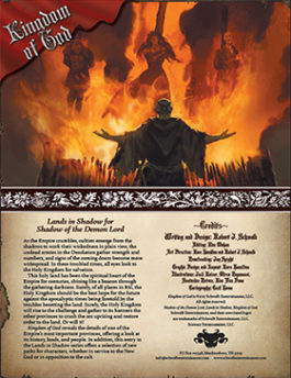 Kingdom of God: Lands in Shadow for Shadow of the Demon Lord RPG