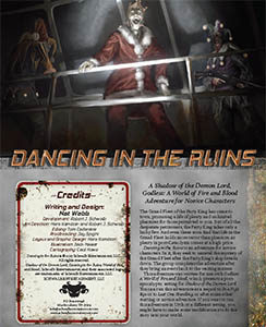 Dancing in the Ruins Novice Godless Adventure for Godless Role Playing Game