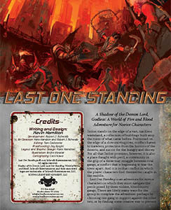 Last One Standing Novice Godless Adventure for Godless Role Playing Game