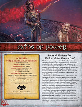 Paths of Power: Shadow of the Demon Lord RPG