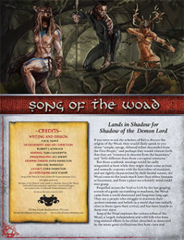 Song of the Woad: Lands in Shadow for Shadow of the Demon Lord RPG