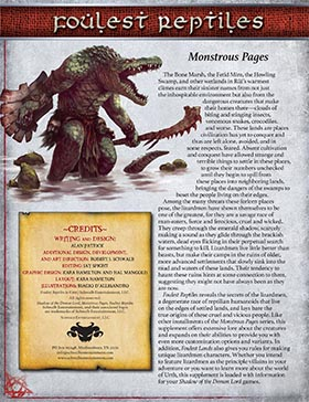 Foulest Reptiles: Monstrous Pages for Shadow of the Demon Lord RPG