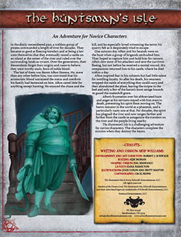 Hunstman's Isle: Novice Adventure for Shadow of the Demon Lord