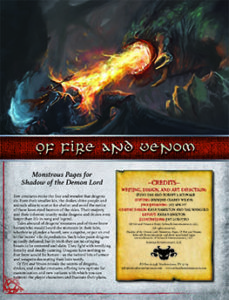 Of Fire and Venom: Monstrous Pages