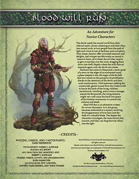 Blood will Run: An Adventure for Novice Characters
