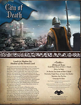City of Death: Lands in Shadow for Shadow of the Demon Lord RPG