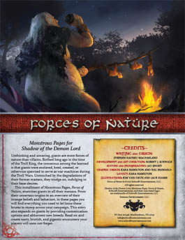 Forces of Nature: Monstrous Pages for Shadow of the Demon Lord