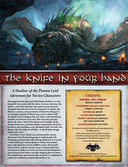 Knife in Your Hand: A Novice Adventure for Shadow of the Demon Lord RPG