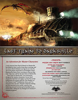 Last Train to Darksville: An Adventure for Master Characters