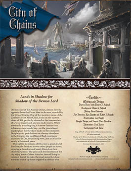City of Chains: Lands in Shadow for Shadow of the Demon Lord RPG