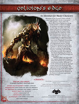 Oblivion's Edge: A Master Adventure for Shadow of the Demon Lord