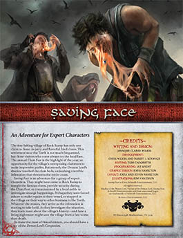 Saving Face: An Expert Adventure for Shadow of the Demon Lord RPG
