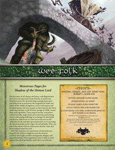 Wee Folk: Monstrous Pages for Shadow of the Demon Lord