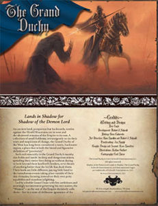 Grand Duchy: Lands in Shadow for Shadow of the Demon Lord RPG
