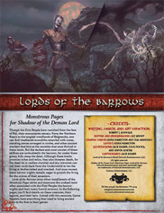 Lords of the Barrows: Monstrous Pages for Shadow of the Demon Lord RPG