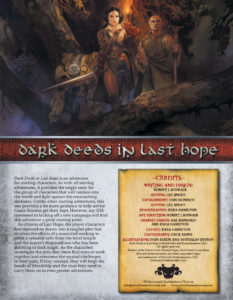 Dark Deeds in Last Hope