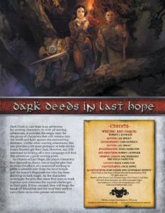 Dark Deeds in Last Hope
