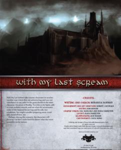 With My Last Scream
