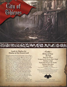 City of Thieves: Lands in Shadow for Shadow of the Demon Lord RPG