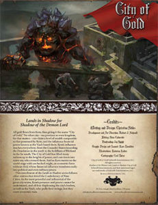 City of Gold: Lands in Shadow for Shadow of the Demon Lord RPG