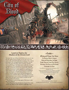 City of Blood | Lands in Shadow for Shadow of the Demon Lord RPG