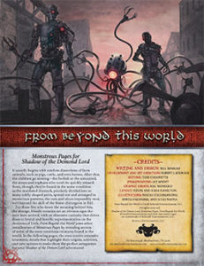 From Beyond This World: Monstrous Pages for Shadow of the Demon Lord RPG