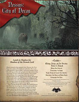 Nessus: City of Decay | Lands in Shadow | Shadow of the Demon Lord RPG