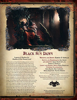 Black Sun Dawn | Legacy of Shadow | Shadow of the Demon Lord RPG