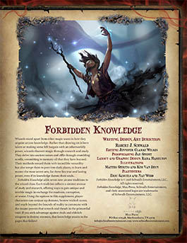 Forbidden Knowledge: A Supplement for 5th Edition
