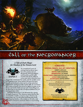 Call of the Necromancer: Expert Adventure for Shadow of the Demon Lord RPG