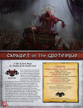 Cabaret of the Grotesque: A Master Adventure for Shadow of the Demon Lord RPG