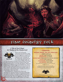 Fine Country Folk: A Novice Adventure for Shadow of the Demon Lord RPG