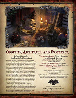 Oddities, Artifacts, and Esoterica: Poisoned Pages for Shadow of the Demon Lord RPG
