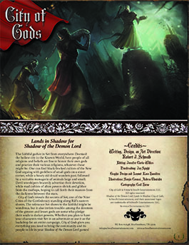 City of Gods: Lands in Shadow for Shadow of the Demon Lord RPG