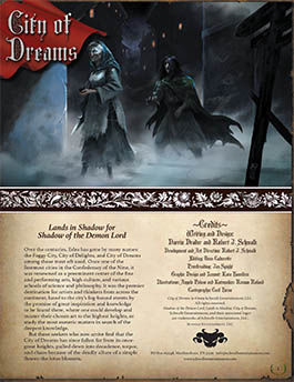 City of Dreams: Lands in Shadow for Shadow of the Demon Lord