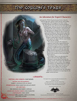 The Gorgon's Tears | Expert Adventure for Shadow of the Demon Lord