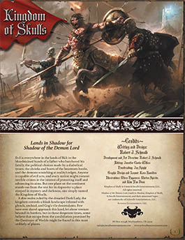 Kingdom of Skulls | Lands in Shadow | Shadow of the Demon Lord RPG