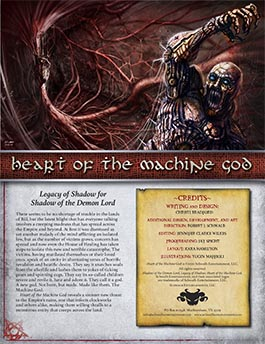 Heart of the Machine God | Legacy of Shadow | Shadow of the Demon Lord RPG