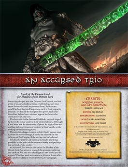 An Accursed Trio | Vault of the Demon Lord