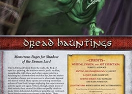 Dread Hauntings | Monstrous Pages for Shadow of the Demon Lord